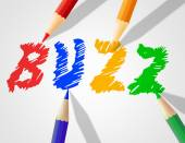 Kids Buzz Represents Public Relations And Announcement — Foto Stock