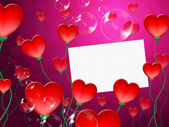 Heart Message Means Valentine Day And Correspond — Stock Photo