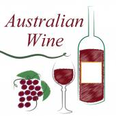 Wine Australian Shows Alcoholic Drink And Winetasting — Stock Photo