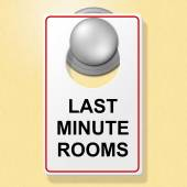 Last Minute Rooms Indicates Place To Stay And Finally — Photo