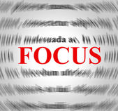Focus Definition Means Explanation Sense And Concentration — Foto de Stock