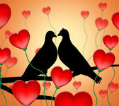 Love Birds Means Tenderness Wildlife And Compassion — Stock Photo