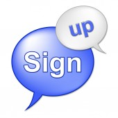 Sign Up Message Indicates Registering Subscribing And Admission — Stock Photo