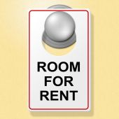 Room For Rent Indicates Place To Stay And Booking — Stock Photo