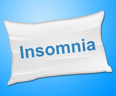 Insomnia Pillow Means Trouble Sleeping And Cushion — Stock Photo