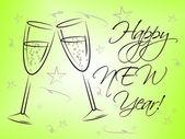 Happy New Year Represents Fun Festive And Celebrations — Stock Photo