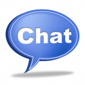 Chat Message Represents Communicate Networking And Call — Stock Photo