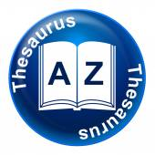 Thesaurus Sign Means Know How And Comprehension — Stock Photo