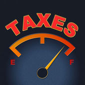 Taxes Gauge Represents Irs Duties And Taxation — Photo