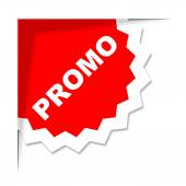 Promo Label Represents Merchandise Clearance And Discount — Stock Photo