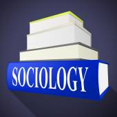 Sociology Books Shows Non-Fiction Knowledge And Assistance — Stock Photo