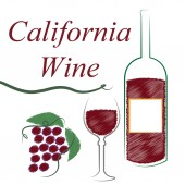 California Wine Means The United States And Booze — Stock Photo