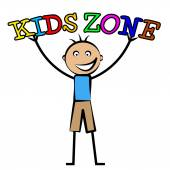 Kids Zone Shows Free Time And Child — Stock Photo