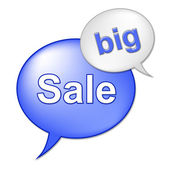 Big Sale Message Indicates Save Promo And Closeout — Stock Photo