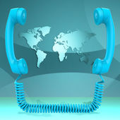 International Call Represents Globalisation Chat And Earth — Stock Photo