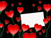 Heart Message Indicates Valentine Day And Communicate — Stock Photo