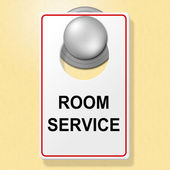 Room Service Sign Indicates Place To Stay And Brasserie — Stock Photo