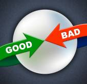Good Bad Arrows Shows First Rate And Amateurish — Stock Photo