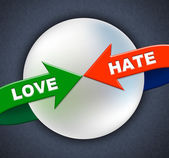 Love Hate Arrows Represents Compassion Passion And Adoration — Stockfoto