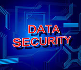 Data Security Sign Shows Secure Information And Knowledge — Stock Photo