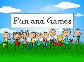 Fun And Games Indicates Gamer Recreational And Recreation — Foto de Stock