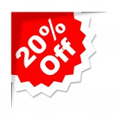 Twenty Percent Off Means Promotion Promotional And Closeout — Stock Photo