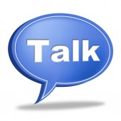 Talk Message Shows Correspond Communicate And Debate — Stock Photo