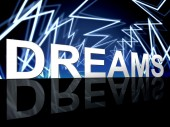 Dreams Word Shows Desire Night And Plan — Foto de Stock