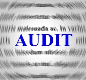 Audit Definition Means Validation Analysis And Inspect — Stock Photo