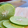 Постер, плакат: Lime Slices Means Fruit Tropical And Sliced