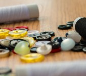 Assorted Buttons Represents Mixed Various And Fasten — Stock Photo