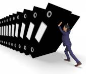 Information Overload Represents Commerce Businessman And Biz — Stock Photo