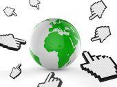 Worldwide Internet Indicates Web Site And Analyse — Stock Photo