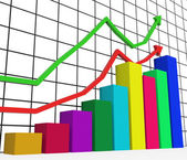 Graph Increasing Indicates Growth Statistics And Increase — Stock Photo