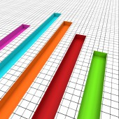 Graph Report Indicates Graphs Profit And Data — Stock Photo