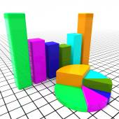 Pie Chart Report Means Business Graph And Data — Stock Photo