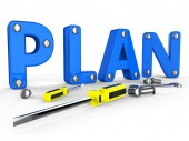 Make A Plan Represents Suggestion Programme And Proposition — Stock Photo