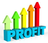 Increase Profit Represents Rising Upward And Raise — Stock Photo