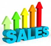 Increase Sales Shows Success Trading And Improvement — Stock Photo