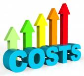 Increase Costs Shows Finances Outlay And Rise — Stock Photo