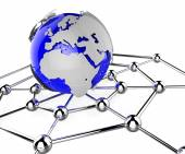 Worldwide Network Means Global Communications And Computing — Stock Photo