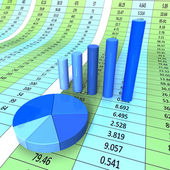 Report Graph Shows Infograph Financial And Data — Stock Photo