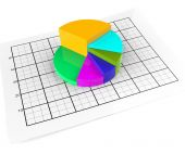 Pie Chart Shows Business Graph And Graphic — Stock Photo