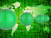 Interconnected Network Represents Networks Globe And World — Stock Photo