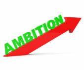 Increase Ambition Shows Arrow Gain And Desire — Stock Photo