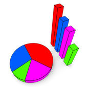 Graph Report Indicates Finance Business And Data — Stock Photo