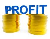 Business Profit Indicates Financial Profitable And Cash — Stock Photo