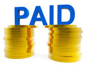 Paid In Cash Represents Currency Bills And Savings — Stock Photo