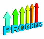 Progress Improving Indicates Business Graph And Analysis — Stock Photo