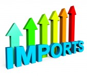 Imports Increasing Shows Buy Abroad And Advance — Stock Photo
